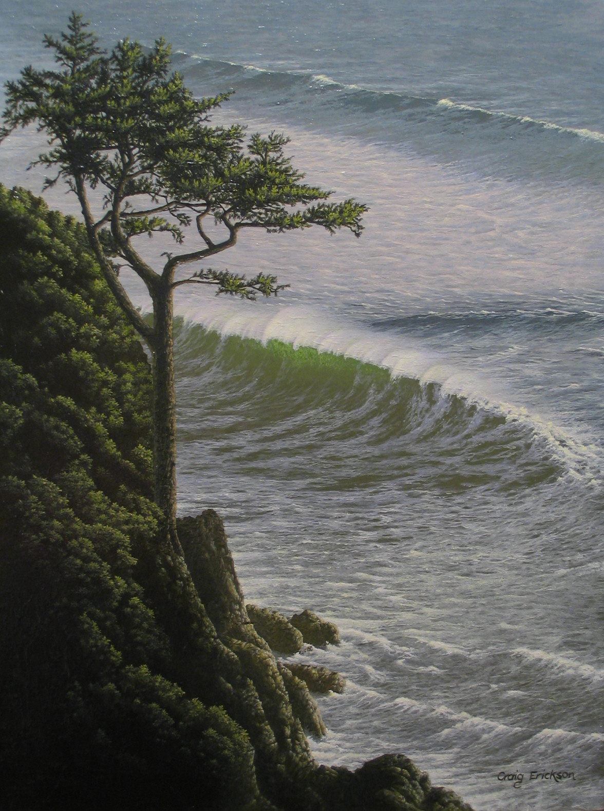 The Wave, (c) 2007 by Craig Erickson acrylic painting on canvas Yaquina Head